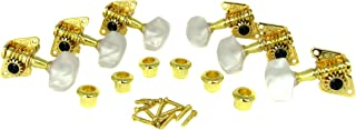 Gold Open-Gear Acoustic Guitar Tuners/Machine Heads - 6pc. 3 Left / 3 Right