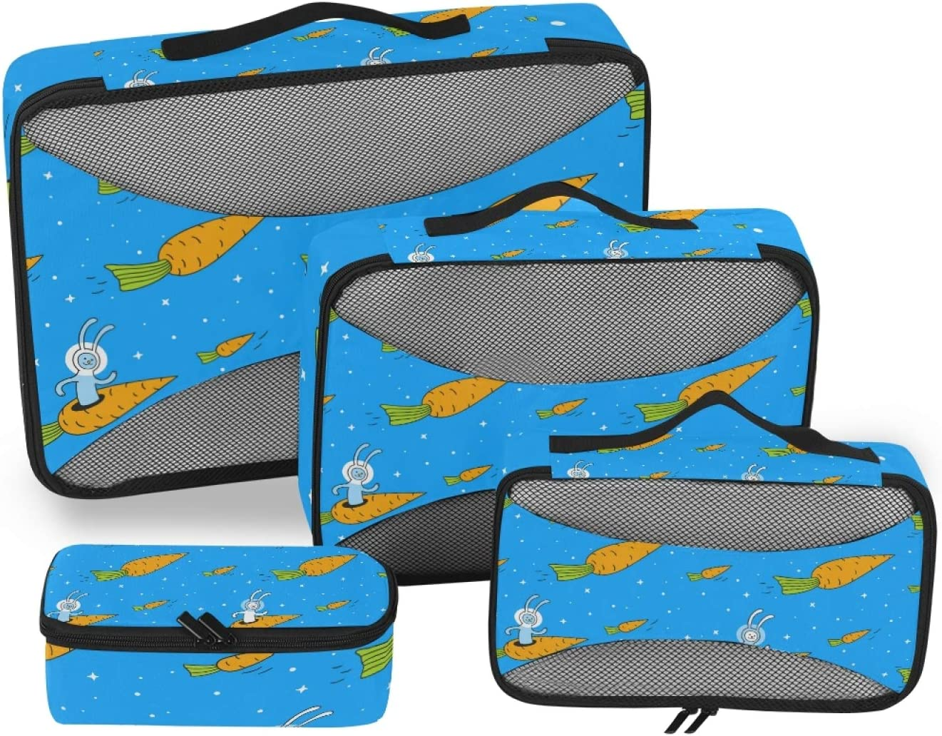 Rabbit Carrot Packing Cubes Phoenix Mall 4-Pcs Organizer Gifts Travel Accessories S