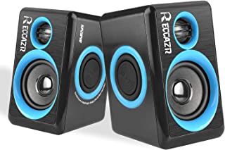 RECCAZR SP2040 Surround Computer Speakers with Deep Bass USB Wired Powered Multimedia Speaker for PC/Laptops/Smart Phone Built-in 4 Loudspeaker Diaphragm(Blue)