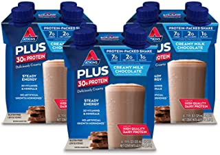 Atkins PLUS Protein-Packed Shake. Creamy Milk Chocolate with 30 Grams of High-Quality Protein. Keto-Friendly and Gluten Fr...