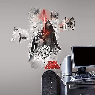 Sticker Géant Repositionnable Stra Wars the Force Awakens Ep Vii Villians Burst