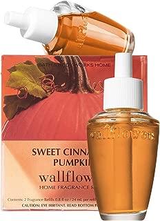 Bath & Body Works Sweet Cinnamon Pumpkin Wallflowers Home Fragrance Refills, 2-Pack (1.6 fl oz total)