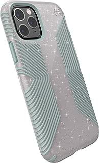 Speck Products Presidio Grip + Glitter iPhone 11 Pro Case,  Whitestone Grey Glitter/Blue