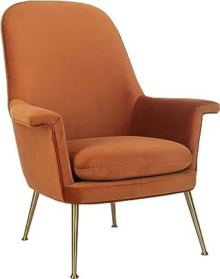 Safavieh Couture Home Aimee Retro Glam Sienna Velvet Arm Chair