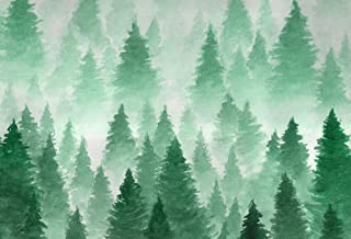HUAYI 7x5ft Christmas Backdrops for Photography Green Pine Trees Photo Background Newborn Studio Props Baby Shower Room Decoration Xt-5970