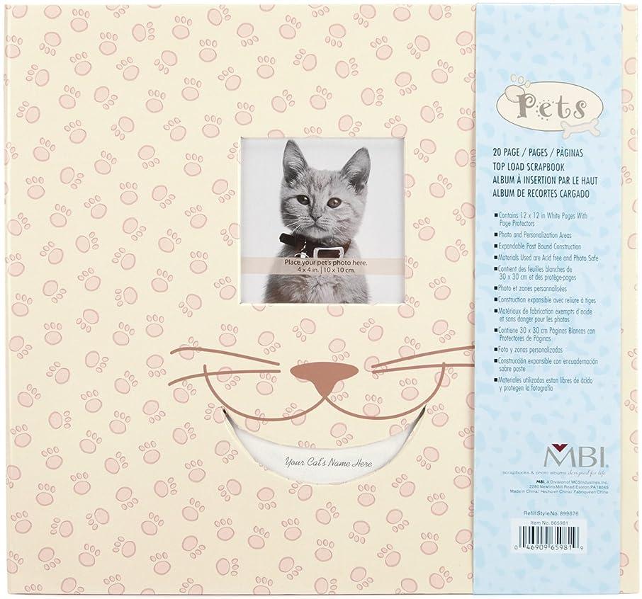 Mbi Pet Post Bound Album W/Window 12x12-Cat