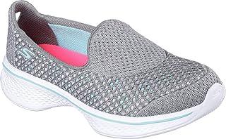 Skechers Pre/Grade School Girls' GOwalk 4 Kindle Shoe Grey/Turquoise