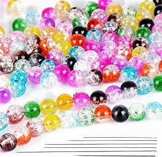 Pack 100 Multicolor Rund Perlen Glasperlen zum basteln dekorieren Dekoperlen