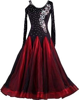 823d125912 YC WELL Ballroom Dance Dresses Rhinestone Competition Dresses Modern Waltz  Tango Smooth Ballroom Dance Costumes for