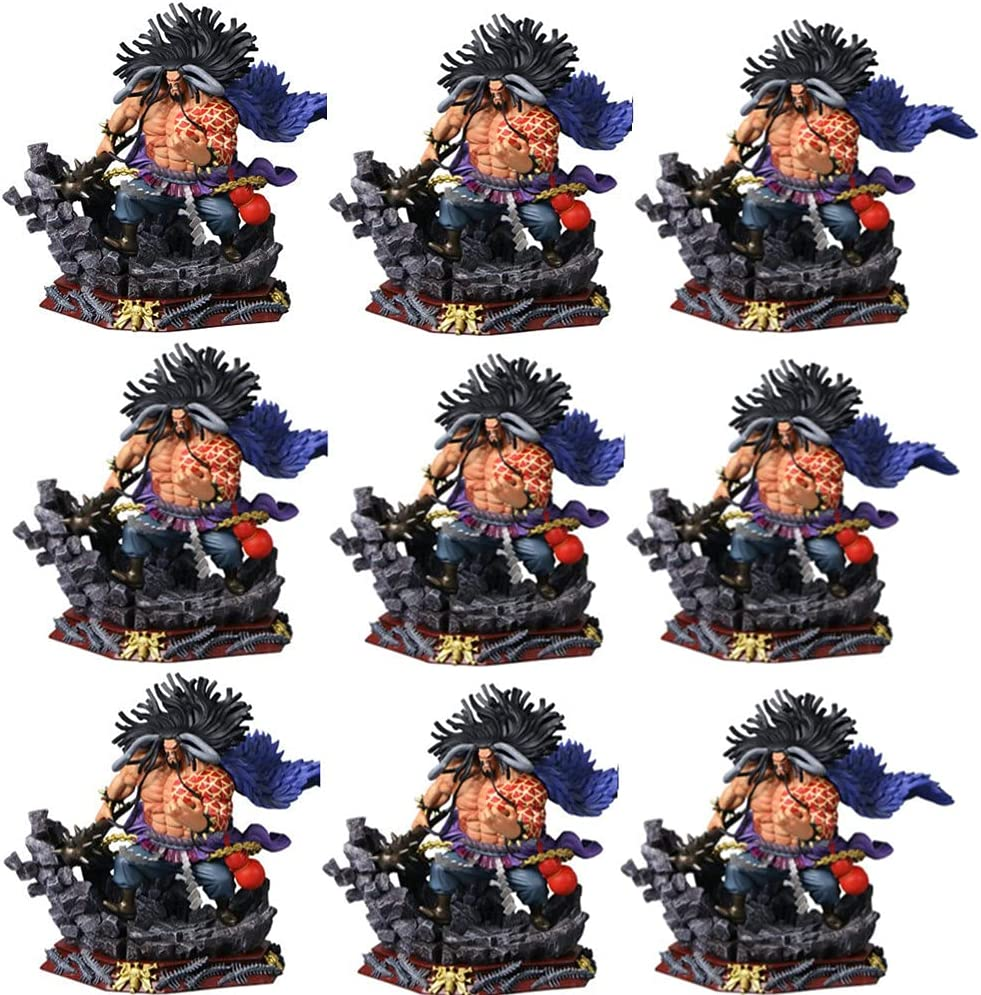 9PCS Anime One Piece Yonko Kaido PVC Max 69% OFF Long Beach Mall Toy Model Gif Action Figure