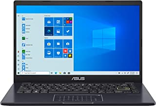 "ASUS E410 14"" Lightweight Laptop Computer, Intel Celeron N4020 up to 2.8GHz, 4GB DDR4 RAM, 128GB eMMC, 802.11AC WiFi, Blue..."