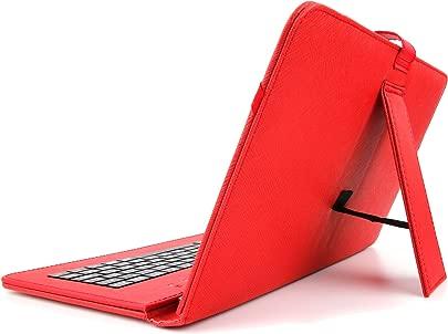 DURAGADGET 10 Zoll H lle mit QWERTZ-Tastatur f r Samsung Galaxy Tab 10 1  SM-T535  Tablet PCs  ROT