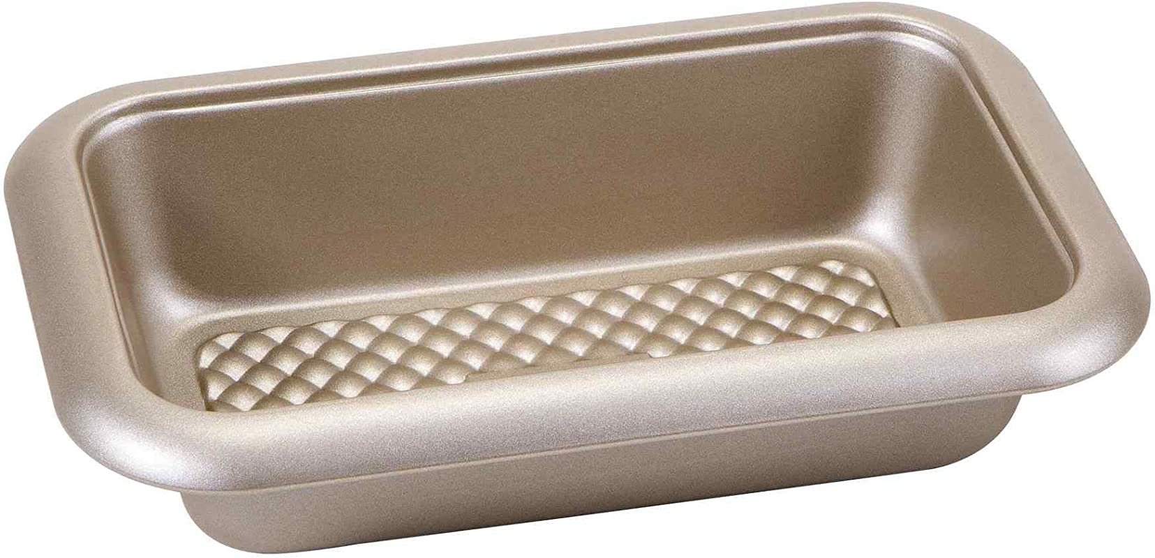 Chicago Metallic 5228745 Arch Textured Non Stick Loaf Baking Pan 9 5 Inch 5 5 Inch Champagne