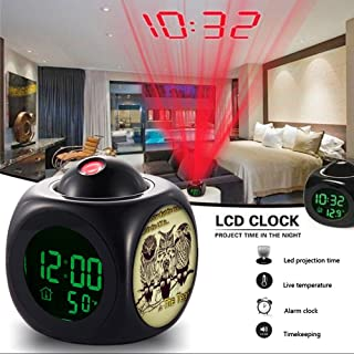 Alarm Clock Multi-function Digital LCD Voice Talking LED Projection Wake Up Bedroom with Data and Temperature Wall/Ceiling Projection,owl-006.#owl #birds #uk #sheffo #sheffield #joke #fun #funny