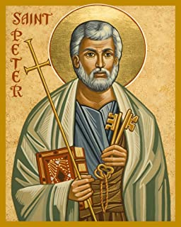 Trinity Stores Religious Art Giclee Print - 8x10 St. Peter by Joan Cole