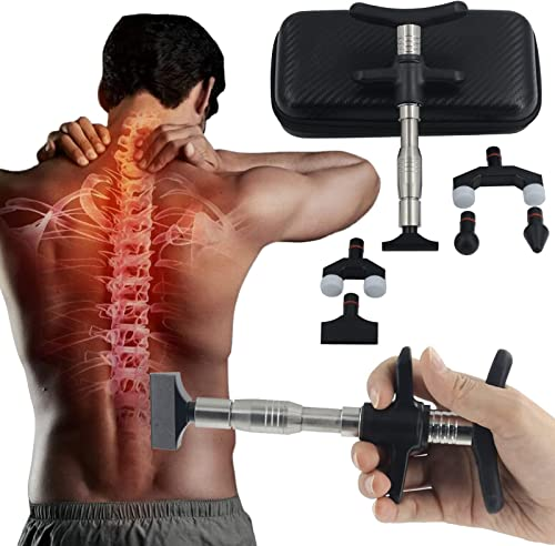 lowest RiamxwR 6 Levels Manual Forth Heads Spinal Massager Portable Chiropractic Adjustment Kit Spine Therapy lowest Back Massage Tool popular Manual Spine Activator Chiropractic Fitness Tissue Massager for Sore Muscle outlet online sale