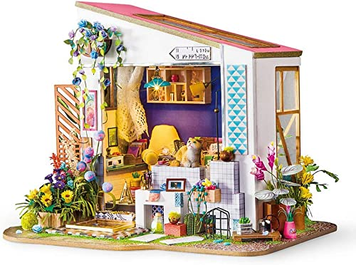 YC DOLL 3D-Wooden Puzzles Puppenhaus Kit Modell Kinder-P gogisches Spielzeug Creative Ornamente Wood Craft Kit