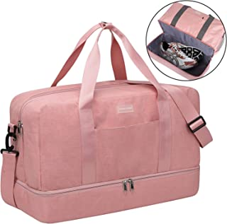 HOKEMP Gym Bag for Women Men with Shoes Compartment, Swim Bag Travel Tote Luggage Shoulder Bag 6 Color Choice