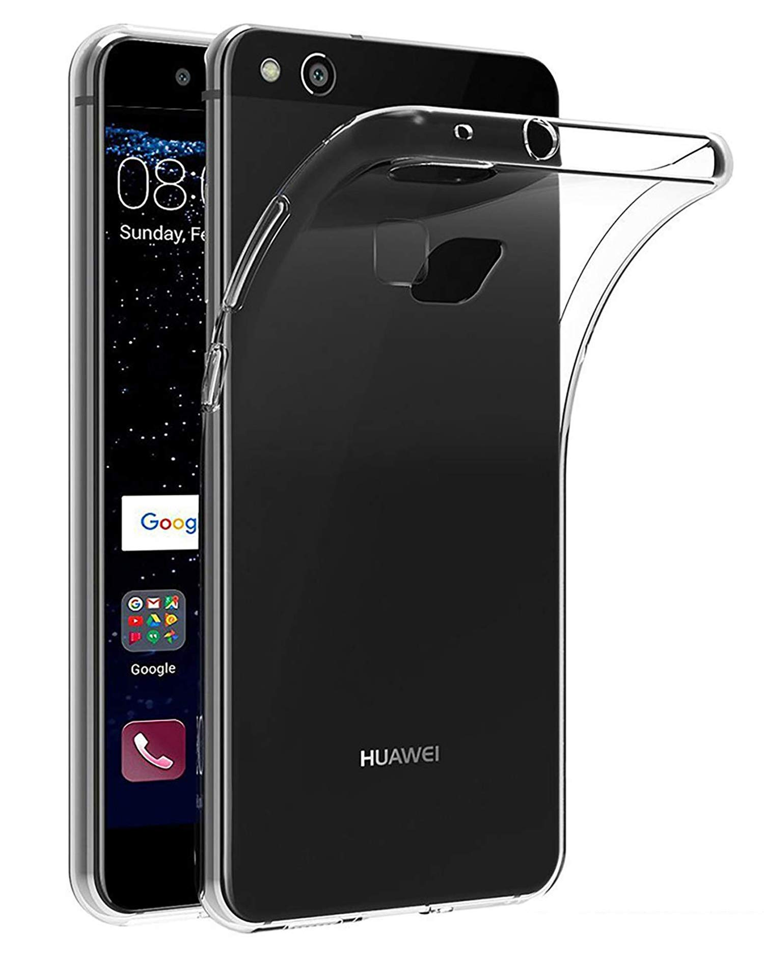 LUCKLYSTAR® Carcasa para Huawei P10 Lite Slim Transparente TPU Silicona Funda Anti-Rasguño Anti-Golpes Protective Case para Huawei P10 Lite(1PCS): Amazon.es: Hogar