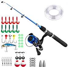 Kids Fishing Pole,Light and Portable Telescopic Fishing Rod and Reel Combos for Youth..