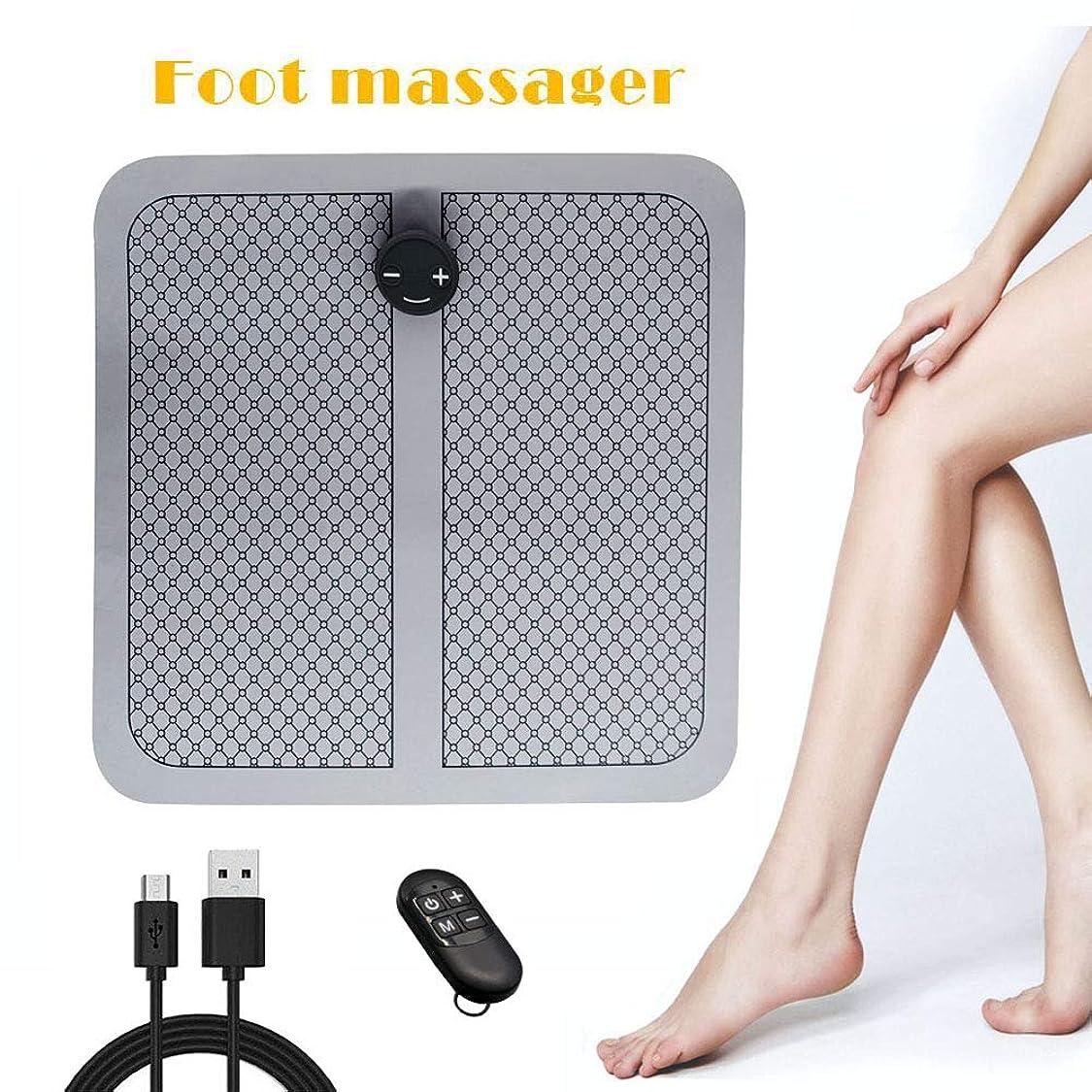 リゾートゲインセイフィットフットマッサージャーEMS、USB充電、振動フットペディキュアマシン、マッサージパッド、リモート操作、血液循環の促進、筋肉痛の緩和、男性と女性用,B