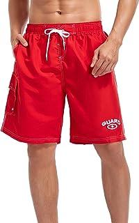 Adoretex Men's Guard Swimsuit Board Shorts Swim Trunks Mesh Liner