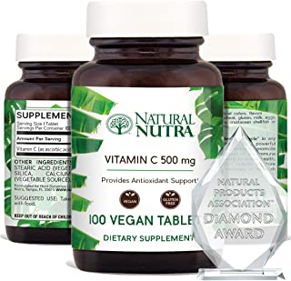Natural Nutra Vitamin C Supplement for Adults, Immune Booster, Protect Skin from Signs of Aging, Healthy Heart, Helps Mana...
