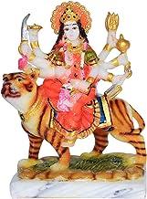 Fabzone Goddess Maa Durga Devi Marble Dust Idol Statue Sherawali MATA Rani - Religious Murti Pooja Gift Item - 15 cm (Mult...