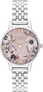 Olivia Burton Womens Quartz Watch, Analog Display and Stainless Steel Strap OB16SP07