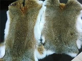 2pcs Natural Tanned Rabbit Fur Hide (10
