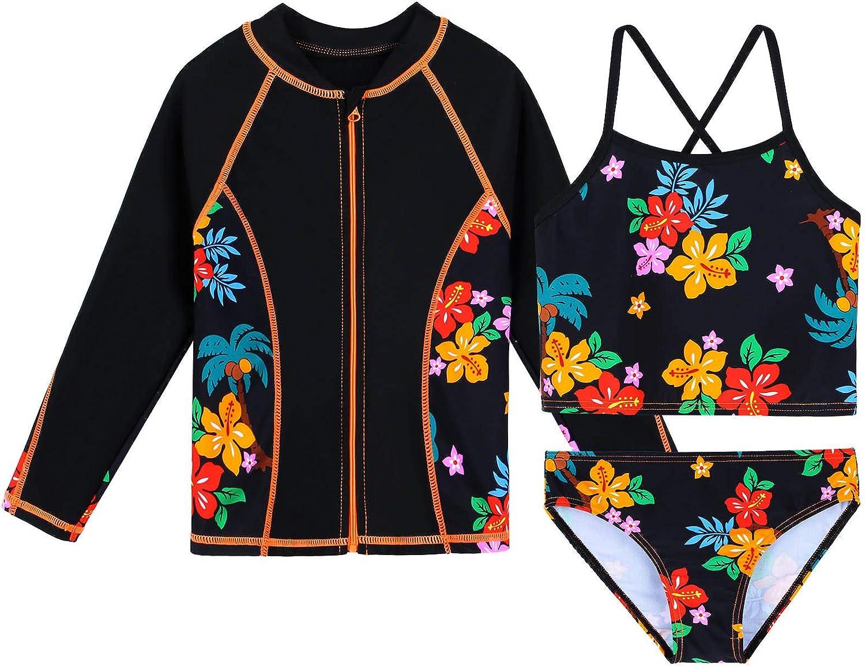 TFJH E Girls Japan Maker New Swimsuit SPF UPF Challenge the lowest price of Japan ☆ 50+ Swimwear UV Rash Guard Su 3PCS