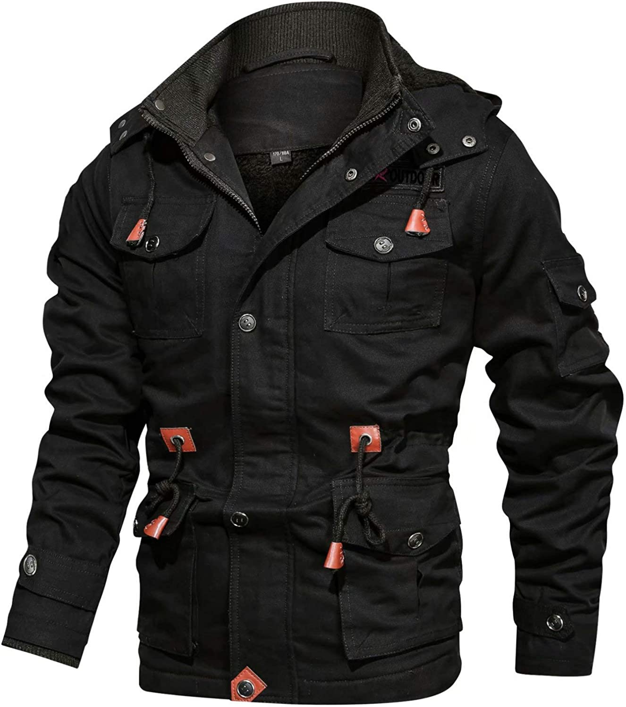 BIYLACLESEN Men's Winter Cotton Cargo 8 Jackets Max Max 60% OFF 42% OFF Windbrea Pockets