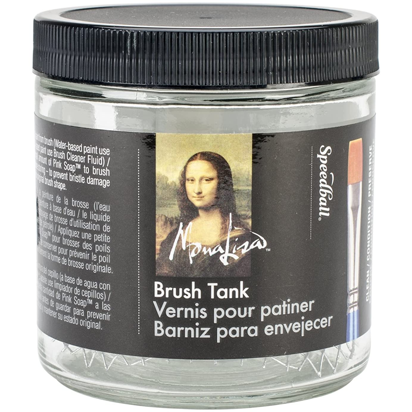 モチーフ指令騒乱Mona Lisa Artist Brush Cleaning Tank-16oz (並行輸入品)