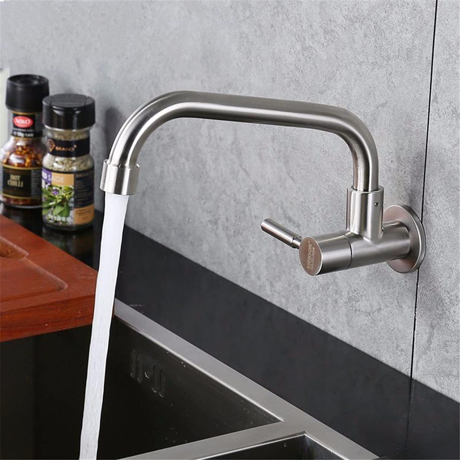304 Stainless Steel Cold Wall Type Kitchen Vegetable Washing Basin tap Mop Washing Pool Pool redation Leading Balcony