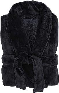 Bambury Microplush Bathrobe Bathrobe, Medium/Large, Black