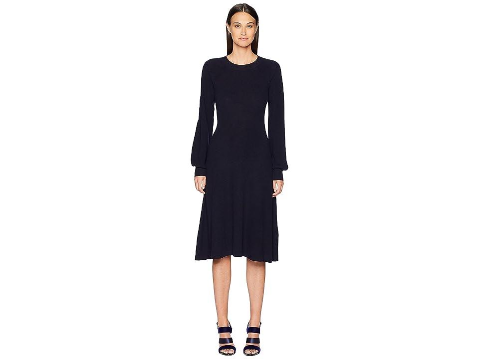 See by Chloe Long Sleeve Sweater Dress (Multicolor Blue) Women