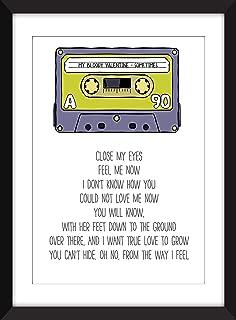 My Bloody Valentine Sometimes Lyrics Unframed Print