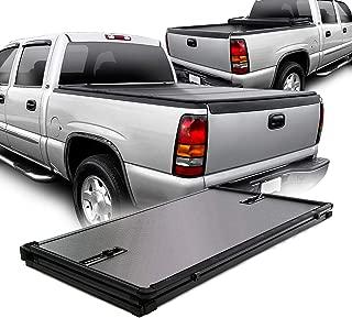 [Hard Tri-Fold Style] Tonneau Cover Fits 1999-2004 Silverado Sierra 1500/2500/1500HD/2500HD 78 Inch 6.5FT Fleetside Bed