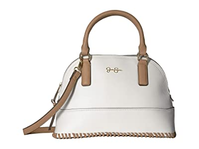 Jessica Simpson Sonia Dome Satchel (White) Satchel Handbags