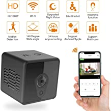 Mini Spy Camera Wireless Hidden, Relohas HD 1080 Spy Hidden Camera Live Streaming, Small Security Camera with Night Vision Motion Activated Spy Cam Nanny Cam, Mini WiFi Camera for Home and Outdoor