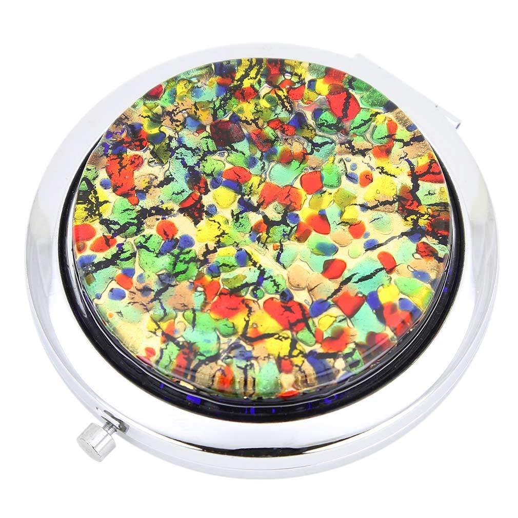 GlassOfVenice Murano service Glass Millefiori Folding Compact Mirror Now on sale G -