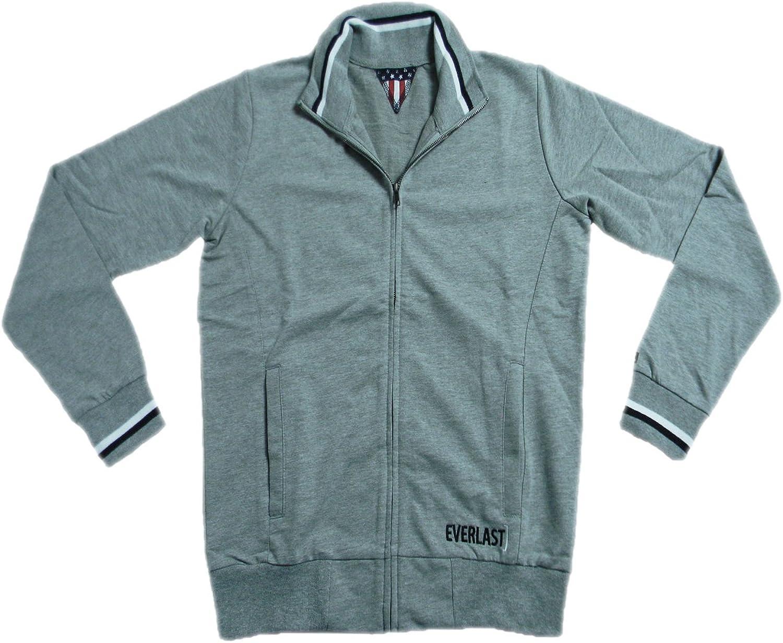 Everlast Herren Full Zip Jacke 22M200F05 Jersey grau (grau Melange)
