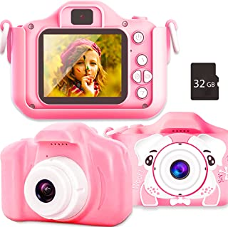 Sinceroduct Kids Camera, 20.0MP Digital Dual Camera with 2.0 Inch IPS Screen,32GB SD Card Included, Ideal Gift for 3-12 Ye...