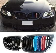 E92 Grille, Carbon Fiber M3 Style Front Kidney Grill Grille for BMW 3 Series E92 E93 (LCI 2010-2013, Carbon Fiber (Gloss M Color))