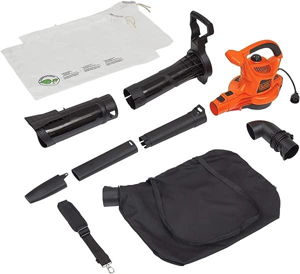 BLACK DECKER 3 In 1 Electric Leaf Blower Mulcher With Leaf Vacuum Kit 12 Amp BV6000