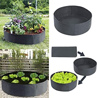 Patio,Lawn Garden Garden Supplies,Raised Plant Bed Garden Flower Planter Elevated Vegetable Box Planting Bag Planting Bag 70x30cm 05 Color Number Black