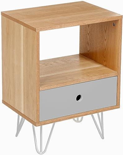 ATMOSPHERA Nachttisch mit Schublade shulg Grau