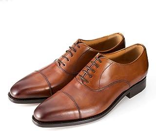 [バーウィック] ストレートチップ 内羽根 紳士靴 革靴 メンズ ライトブラウン 2428 レザーソール カーフ素材 グットイャー製法 スペイン製