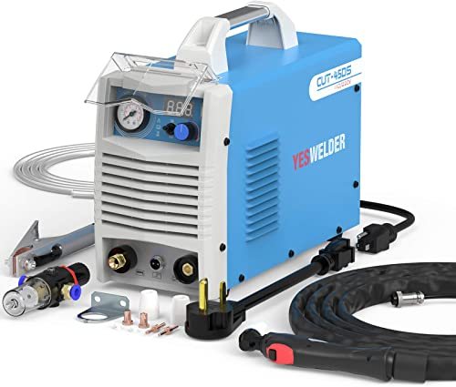 high quality YESWELDER popular Plasma Cutter Dual Voltage 110/220V,45 Amp high quality Non-Pilot Arc Digital Display IGBT Portable plasma cutter machine with accessories outlet online sale