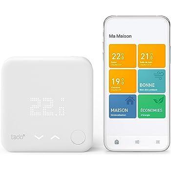 tado° Thermostat Intelligent filaire Kit de Démarrage V3+ - Contrôle intelligent du chauffage, Installez par vous-même, Designed in Germany